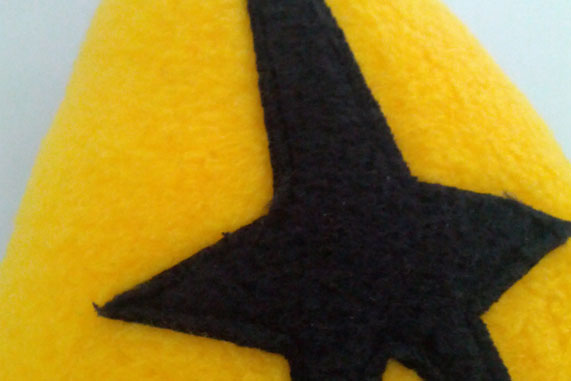 Mini Star Trek Logo Themed Cushion